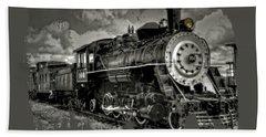 Old 104 Steam Engine Locomotive Bath Towel