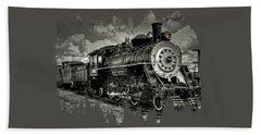 Old 104 Steam Engine Locomotive Hand Towel