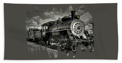 Old 104 Steam Engine Locomotive Bath Towel