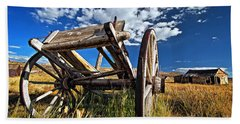 Old Abandoned Wagon, Bodie Ghost Town, California Hand Towel