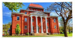 Old Ashe Courthouse Hand Towel by Dale R Carlson