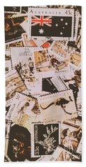 Old Australia In Stamps Bath Towel