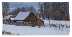 Old Barn Bath Towel by Sean Allen