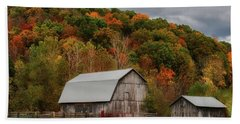 Old Barns Of Beauty In Ohio  Bath Towel