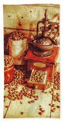 Old Bean Mill Decor. Kitchen Art Hand Towel