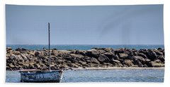 Old Boat - Half Moon Bay Hand Towel