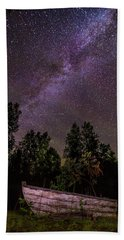 Old Boat Under The Stars Bath Towel