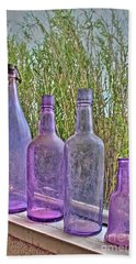 Old Bottle Collection Hand Towel