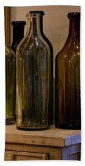 Bath Towel featuring the photograph Old Bottles by Donna Walsh