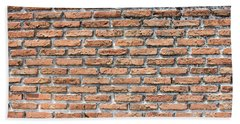 Hand Towel featuring the photograph Old Brick Wall by Jingjits Photography