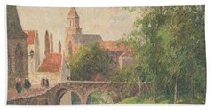 Old Bridge In Bruges  Bath Towel