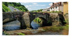 Old Bridge Over Elle River Quimperle, France Bath Towel