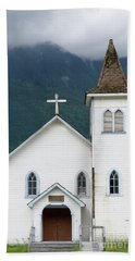 Bath Towel featuring the photograph Old Church by Rod Wiens