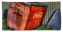 Old Coke Box Hand Towel