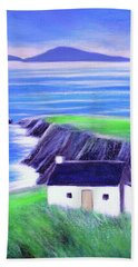 Old Cottage And Ruins, Dingle Peninsula Bath Towel