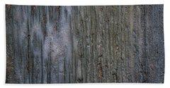 Old Cracked Wood Background Bath Towel