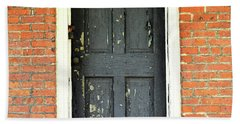 Old Door Hand Towel by Zawhaus Photography