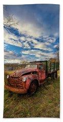 Old Duck Farm Truck Hand Towel