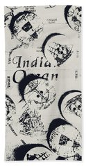 Old East India Trading Routes Hand Towel