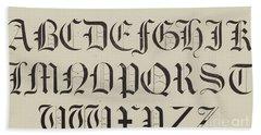 Old English Font Bath Towel