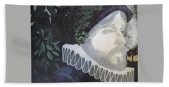 Bath Towel featuring the painting Old Englishman by Bernard Goodman