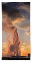 Old Faithful Yellowstone Bath Towel