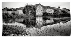 Old Farm And Pond In France Hand Towel