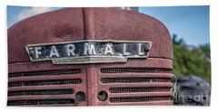 Old Farmall Tractor Grill And Nameplate Hand Towel