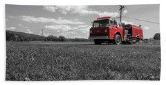 Old Fire Engine Deerfield Ma Bath Towel