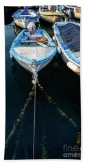 Old Fishing Boats Of The Adriatic Hand Towel