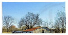 Hand Towel featuring the photograph Old Forgotten Barn Near Paris Texas by Janette Boyd
