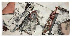 Bath Towel featuring the digital art Old Forgotten Letters by Pennie McCracken