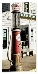 Bath Towel featuring the photograph Old Fuel Pump by Alexey Stiop
