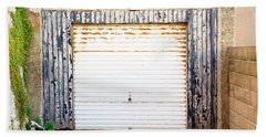 Hand Towel featuring the photograph Old Garage Door by Tom Gowanlock