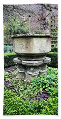 Old Garden Stone Trough Hand Towel