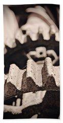 Old Gears Bath Towel by Tim Good