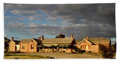 Hand Towel featuring the photograph Old Ghan Railway Restaurant by Douglas Barnard