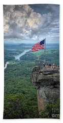 Old Glory On The Rock Hand Towel