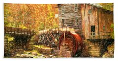 Old Grist Mill Hand Towel by Mark Allen
