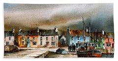 Old Harbour Dingle, Kerry Bath Towel
