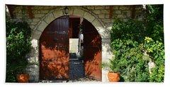 Old House Door Bath Towel by Nuri Osmani