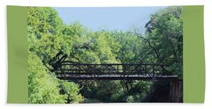 Hand Towel featuring the photograph Old Iron Bridge Over Caddo Creek by Sheila Brown
