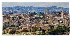 Old Jerusalem Panorama Hand Towel
