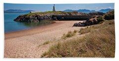 Old Llanddwyn Lighthouse Bath Towel