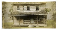 Hand Towel featuring the photograph Old Log Cabin by Joan Reese