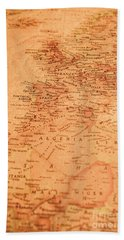 Old Maritime Map Hand Towel