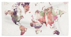 Old Memories World Map Bath Towel