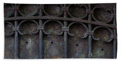 Old Metal Gate Bath Towel
