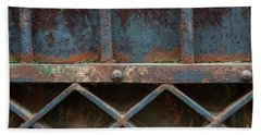 Hand Towel featuring the photograph Old Metal Gate Detail by Elena Elisseeva