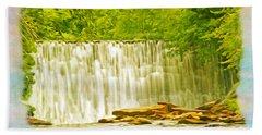 Old Mill Dam Roswell Georgia Bath Towel